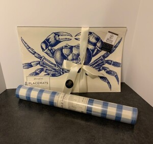 Blue Placemats and Table Runner