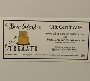 Bea Sweet Treats Gift Certificate