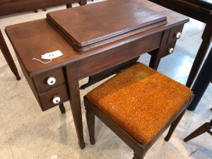 Sewing machine cabinet & stool