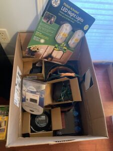 LED night lights, thermometer, weather station,
