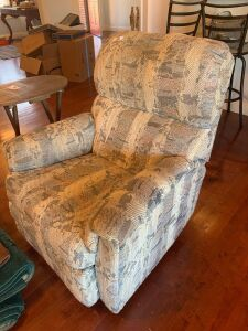 Upholstered rocker recliner