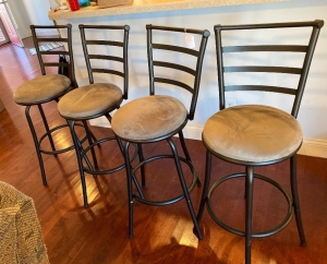 4 metal frame bar stools