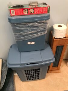 Hamper, trash can, tp holder, toilet repair kit