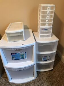 Various storage drawers