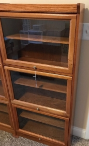 Modern barrister shelving unit