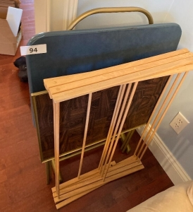 Laundry drying rack, 2 TV trays and stand ,