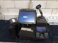 Cash register computer scanner cash drawer NCR & Dell & Checkpoint