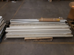 18 eight foot Lozier upright supports & side covers