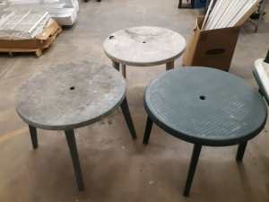 "3 outdoor tables 36"" wide"