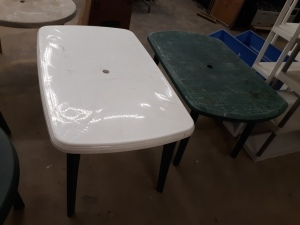 "2 outdoor tables 34"" X 54"""
