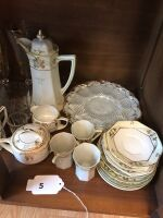 Hot chocolate set and miscellaneous dishes