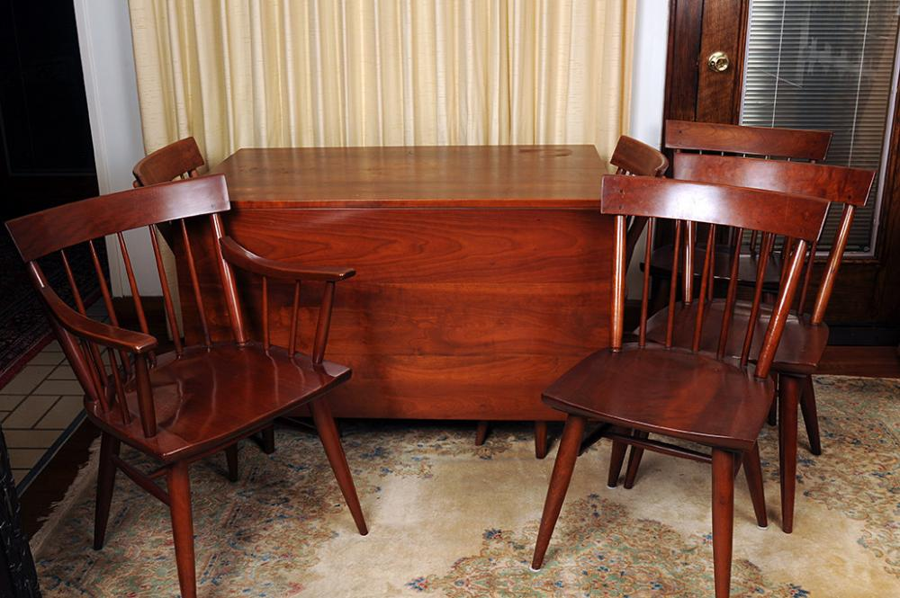 Lot 200 Of 94 Willett Solid Cherry Transitional Dining Table Drop Leaf