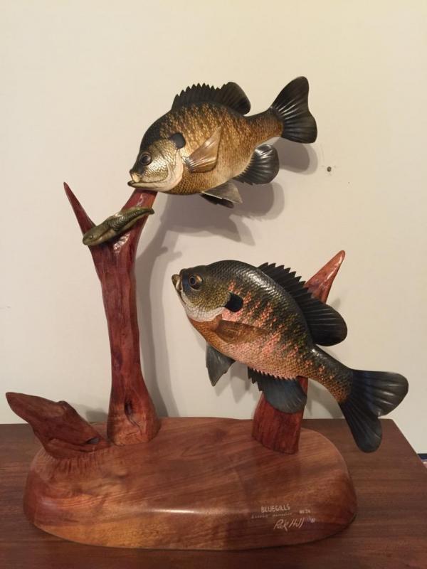 Rick hill quot bluegills limited edition fish carving
