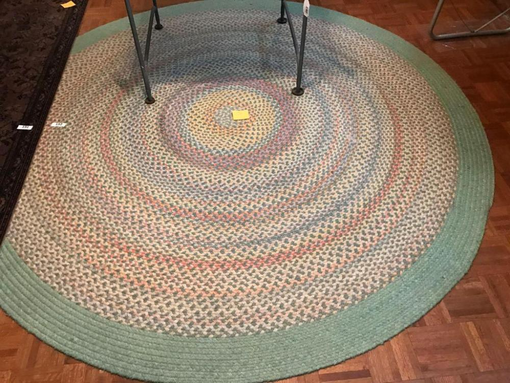 Lot 192 Of 372 8 Ft Round Braided Rug
