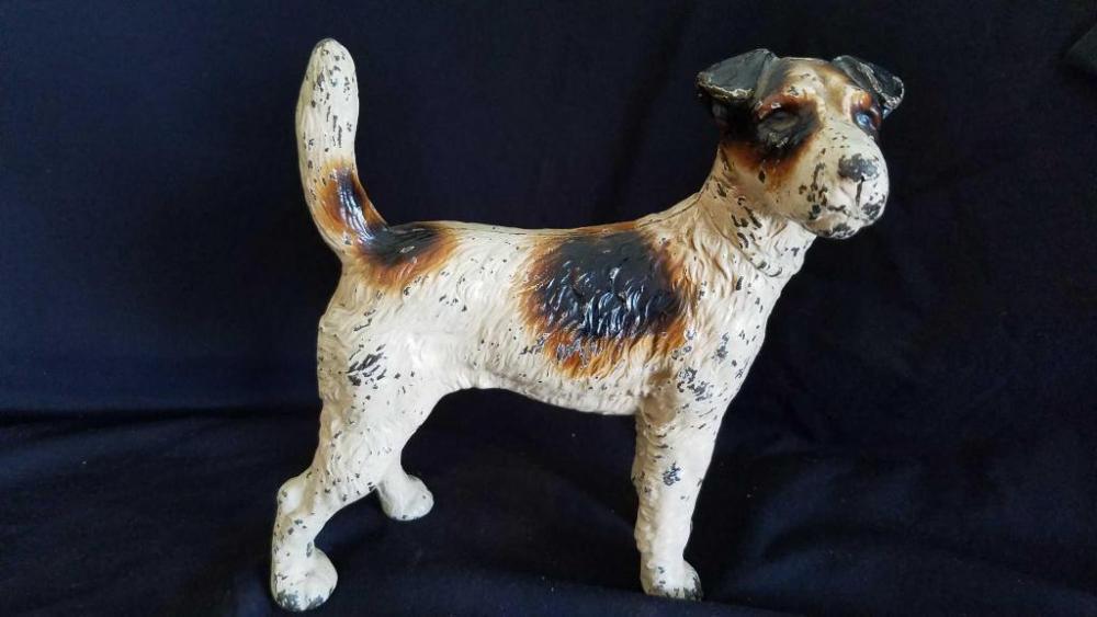 Vintage Cast Iron Terrier Dog Doorstop