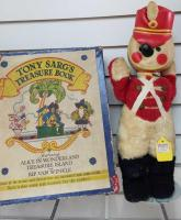 "Vintage ""Tony Sarg's Treasure Book""; Stuffed toy soldier"