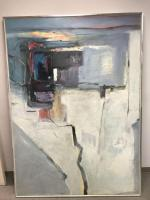 Anton Weiss signed abstract oil canvas- framed; (being offered w/ reserve)