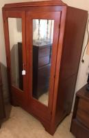 Antique armoire with 2 mirrored doors