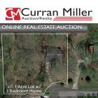 Absolute Real Estate Auction 1+/- Acre with 3 Bedroom Home