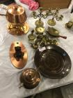 Lot of copper and brass items
