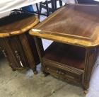 2 Wooden lamp tables