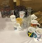 Lot of glasses and mugs