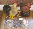 Lot of Misc. Decorative Chickens/Roosters