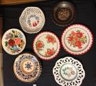 Hungarian handpainted plates and and bowl