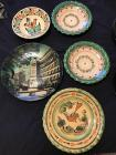 Lot of Hungarian hand painted plates