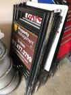 Lot of metal sign frames