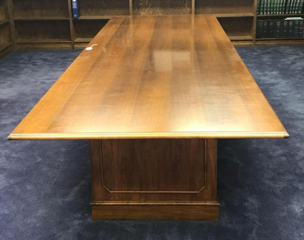 Lot 1 Of 65: Indiana Desk Company Walnut Conference Table