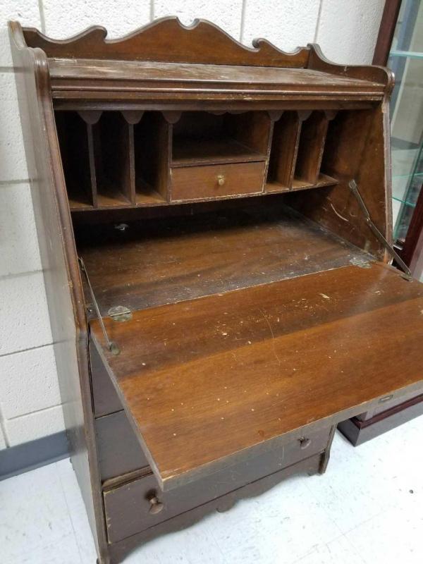 Lot 4 of 317: Antique Pull-Down Desk - Antique Pull-Down Desk
