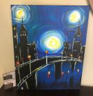 $50 Gift Certifcate - Painting with a Twist + Vibrant Canvas Painting