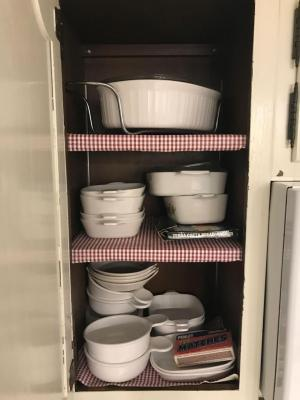 Corning ware, baking dishes