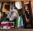 Drawer of miscellaneous kitchen gadgets