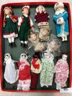 Lot of doll and angel head ornaments