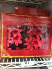 6 boxes of 20 count poinsettia lights